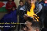 Pangkas rambut teknik nyala api ala pemuda Gaza Pa