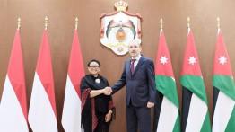 Menlu RI dan Menlu Yordania Dorong Kerja Sama untuk Perjuangan Palestina