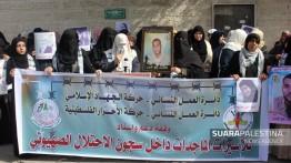 Jihad Islami dan Gerakan Pembebasan Palestina adakan aksi solidaritas untuk tahanan perempuan Palestina