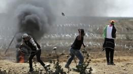 Rudal Israel melukai dua warga Palestina