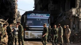 2556 militan anti pemerintah Suriah meninggalkan kamp Yarmouk