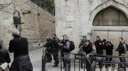 Warga Palestina di Yerusalem protes atas pencaplokan pemakaman Muslim di dekat Masjid Al-Aqsa