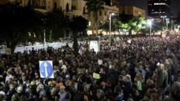 Untuk keempat kali berturut-turut, ribuan warga Israel tuntut Netanyahu mundur karena kasus suap