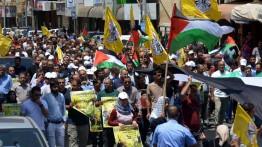 Ribuan warga Palestina gelar demonstrasi di Nablus tolak Deal of Century