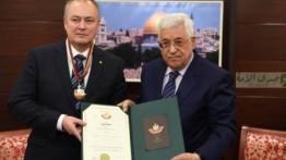 Presiden Mahmud Abbas beri penghargaan kepada delegasi Belanda