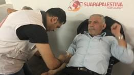 Meskipun ditekan Israel warga Palestina di Gaza donorkan darah untuk pasukan Mesir