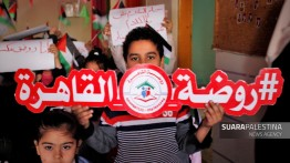 Sekolah hancur dalam serangan Israel, guru dan anak-anak TK Al-Qahirah adakan aksi solidaratas