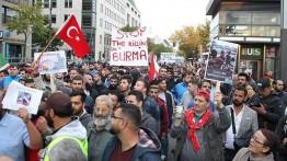 Dukung Muslim Rohingya, ratusan warga Jerman gelar unjuk rasa