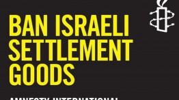 Amensti Internasional ajukan petisi penolakan produk permukiman ilegal Israel