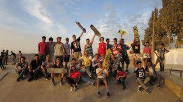 Pembangunan arena skateboard di Tepi Barat