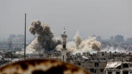 Koalisi internasional serang Deir Ez-Zor, lebih dari 100 orang terbunuh