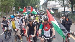 "Ajang tahunan ""Big Ride for Palestine"" digelar di jalan-jalan di kota London"