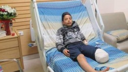 Menjadi sasaran tembak sniper Israel, kaki seorang bocah Palestina harus diamputasi