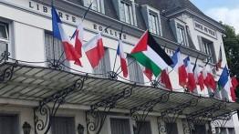 Bendera Palestina berkibar di Perancis