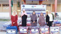 260 Selimut Hangat Dibagikan untuk Hafiz Qur'an dan Anak Yatim di Gaza