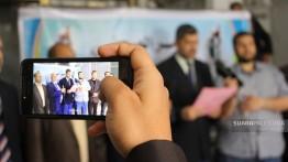 Jumpa pers di Gaza menjelang persiapan peringatan Nakabah