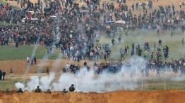 """Peringati """"Hari Bumi'' Ribuan warga Palestina banjiri perbatasan Gaza"""