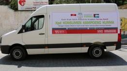 Muslimin Indonesia menghadiahi minibus untuk TK. Nurani Indonesia Kota Gaza Palestina
