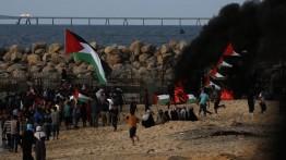 Demonstrasi lawan blokade laut Israel di Gaza, 30 warga luka-luka