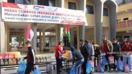MASYARAKAT INDONESIA BUKA PASAR SEMBAKO INDONESIA GRATIS DI PALESTINA, Bantuan dari Rakyat Indonesia untuk warga Gaza