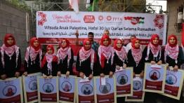 Santri Daarul Qur'an Gaza muroja'ah Qur'an bil goib 30 Juz selama 2 hari