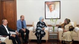Emine Erdogan bertemu Menlu Bangladesh Hasinah Wajid di Dhaka