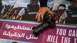 Warga Turki gelar aksi solidaritas untuk wartawan Palestina yang dibunuh tentara Israel