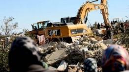 Militer Israel paksa warga Palestina untuk menggusur rumah sendiri