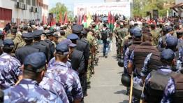 Parade militer bela Al-Aqsa di Jalur Gaza