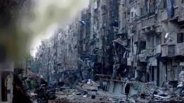 Dalam kesedihan, warga Palestina di kamp pengungsi Yarmouk rayakan Iduladha