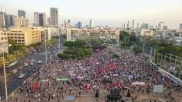 Warga Israel Unjuk Rasa di Tel Aviv Tolak Pencaplokan Tepi Barat