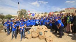"""Pelajar Al Quds berpartisipasi dalam ajang """"My Green Jerusalem"""""""