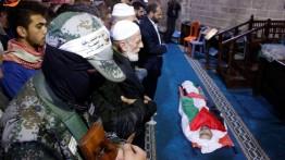 Warga Gaza mengantar jenazah Muhammad Muhaisen ke peristirahatan terakhir