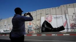 Seniman Palestina sindir Trumpt melalui grafiti