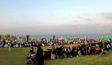 Muslim Jaffa tunaikan shalat Idul Adha di tempat terbuka