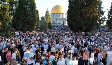 Warga Palestina peringati tahun baru hijriyah di Masjid al-Aqsa