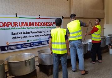 Dapur Umum Indonesia di Gaza Palestina, Beraktifitas Selama Bulan