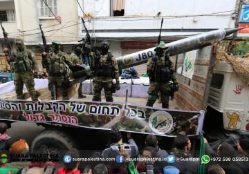 Peluncuran roket tercanggih jenis J80 buatan pejuang Palestina di