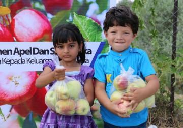 Borong Buah Apel Dan Buah Semangka Hasil Panen Petani Gaza Untuk D