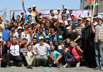 Lari Maraton Diikuti Ratusan Rakyat Gaza Di Hari Nasional Tahanan