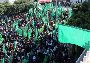 Peringatan hari jadi Hamas ke 29 di Gaza