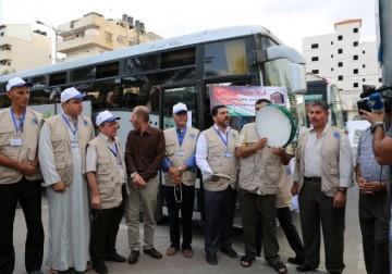 Rombongan Haji asal Gaza bertolak menuju Rafah dan menuju Bandara