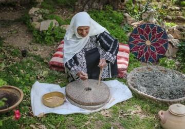 Mengolah biji Gandum menjadi Tepung Gandum cara tradisional, tradi
