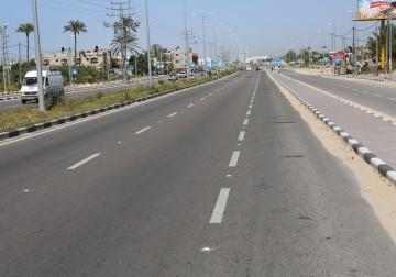Jalan Raya Lintas Gaza Selatan Hingga Utara Bantuan Qatar