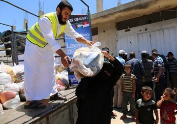 Pembagian ZIS4GAZA-Paket Sembako Untuk Muslimin Shouqa Rafah Gaza