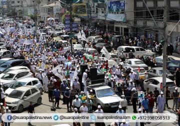 Demonstrasi warga Gaza menuntut hentikan blokade atas Gaza